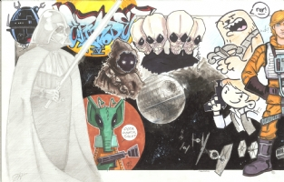 Star Wars Episode IV (A New Hope) Jam: left half Comic Art