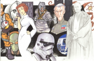 Star Wars Episode IV (A New Hope) Jam: right half Comic Art