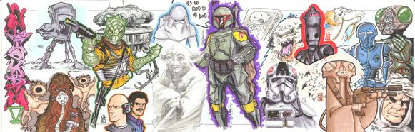Star Wars Episode V (The Empire Strikes Back) Jam Comic Art