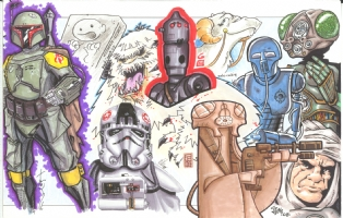 Star Wars Episode V (The Empire Strikes Back) Jam: right half Comic Art