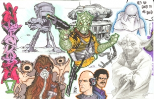 Star Wars Episode V (The Empire Strikes Back) Jam: left half Comic Art