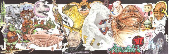 Star Wars Episode VI (Return of the Jedi) Jam Comic Art