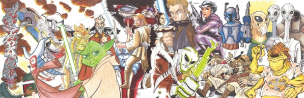 Star Wars Episode II (Attack of the Clones) Jam Comic Art