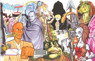 Star Wars Episode I Jam: right half Comic Art