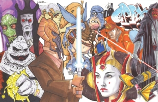 Star Wars Episode I (The Phantom Menace) Jam: left half Comic Art