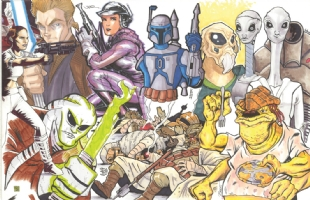 Star Wars Episode II (Attack of the Clones) Jam: right half Comic Art