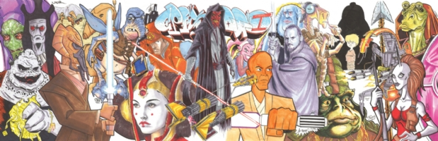 Star Wars Episode I Jam Comic Art