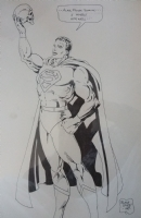 Superman as Hamlet by Butch Guice Comic Art