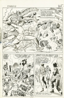 X-Men #10 int. page by Jack Kirby and Chic Stone Comic Art