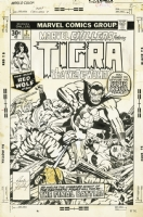 Marvel Chillers #7 cover featuring Tigra the Were-Woman by Jack Kirby Comic Art