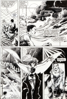 Uncanny X-Men #186 int. page by Barry Windsor Smith and Terry Austin Comic Art