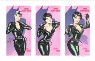 Amanda Conner, Catwoman print Comic Art
