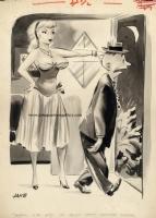 Sold! - Jack Cole 1950s Humorama cartoon Comic Art