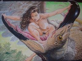 Meriem Cavewoman Comic Art