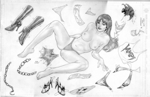 Vampirella - Lan Medina (slight nudity) Comic Art