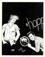 Jaime Hernandez: Love & Rockets #28 Front Cover, Comic Art