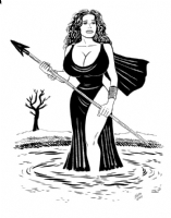 Gilbert Hernandez - Fritz as 'Melina' in 'Three Mystic Eyes, Comic Art