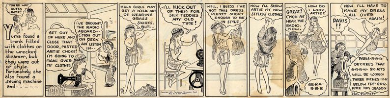 Hal Forrest - Artie the Ace 1927 Comic Art