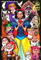Snow White and the 7 Dwarfs by JJ Kirby Comic Art