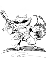Rocket Raccoon Comic Art