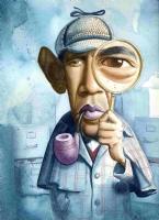 Sherlock Holmes--Obama Comic Art