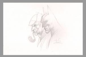 Sherlock Holmes/Batman Comic Art