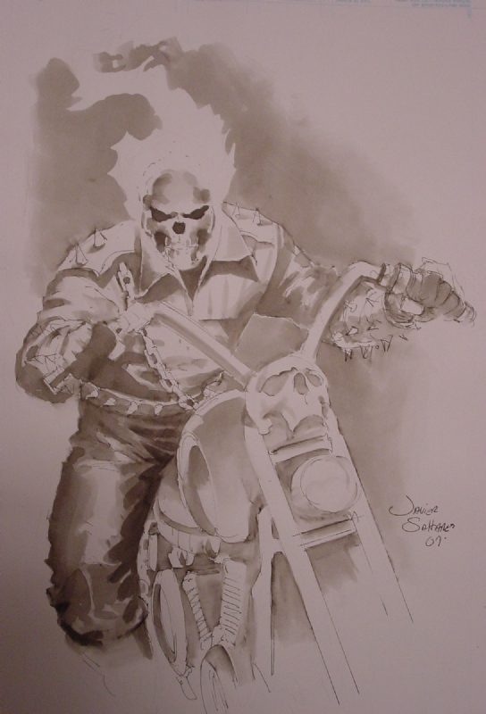 Javier Saltares - Ghost Rider Comic Art