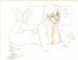 75 Black Cat Comic Art