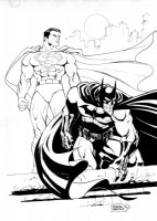 Superman & Batman Comic Art