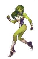 She Hulk Comic Art