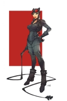 Catwoman Arkham Knight Comic Art