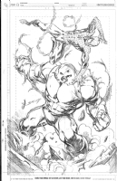Spider Man vs Juggernaut by Mark Bagley Comic Art
