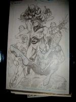 New Avengers Jam part 4 and 5 Comic Art