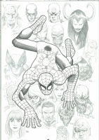 Amazing Spider Man #100 NYCC Yu and McNiven Additions Comic Art