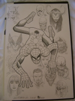 Amazing Spider Man #100 cover reinterpation SDCC style Comic Art
