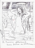 Manara, Milo - Donna nel Lago Hansgrohe Advertisment Preliminary Art Comic Art