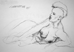 Liberatore, Tanino - Nude Woman Comic Art
