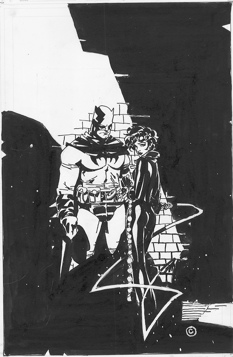 Batman & Catwoman by Chris Bachalo Comic Art