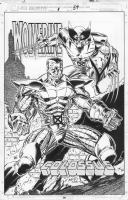 Bagley Wolverine & Colossus pinup Comic Art