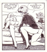 Leone Frollo two womens lesbians SOLD Comic Art