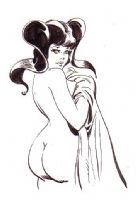 Leone Frollo Bianceneve Sketch SOLD Comic Art