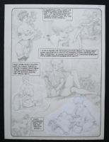 Leone Frollo Mona Street 2 page 1 SOLD Comic Art