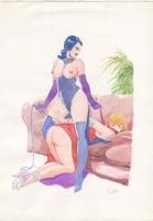 Leone Frollo Femmes Lesbians SOLD Comic Art