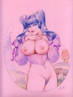 Leone Frollo Biancaneve color SOLD Comic Art
