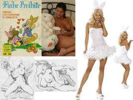 ELVIFRANCE LA LAPINE RABBIT Comic Art