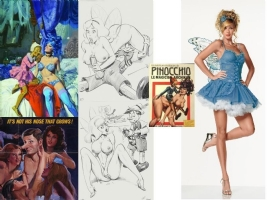 ELVIFRANCE LA FEE BLEUE THE BLUE FAIRY Comic Art