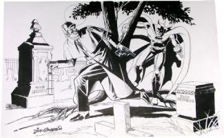Sherlock Holmes & Batman by Giordano, Comic Art