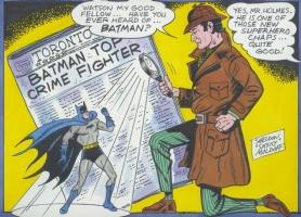 Sherlock Holmes & Batman by Sheldon Moldoff, Comic Art