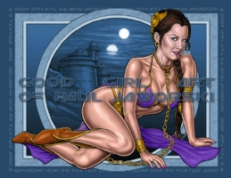 Leia-Slave-9 Comic Art
