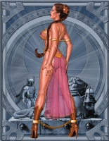PRINCESS LEIA SLAVE 5x3 Comic Art